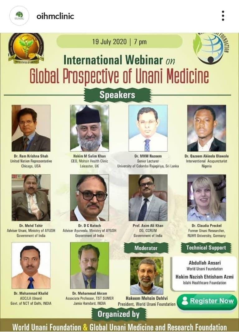 Dr Olaking International Webinar
